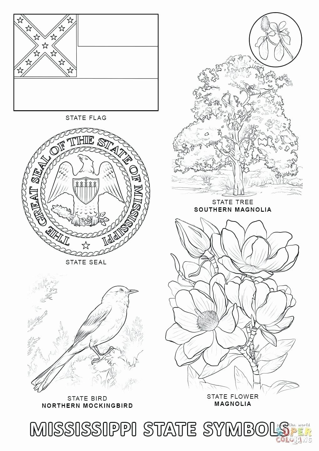 California State Bird Coloring Page Lovely Arizona State Flag Coloring Page Mayhemcolor In 2020 State Symbols Georgia Symbols Flag Coloring Pages
