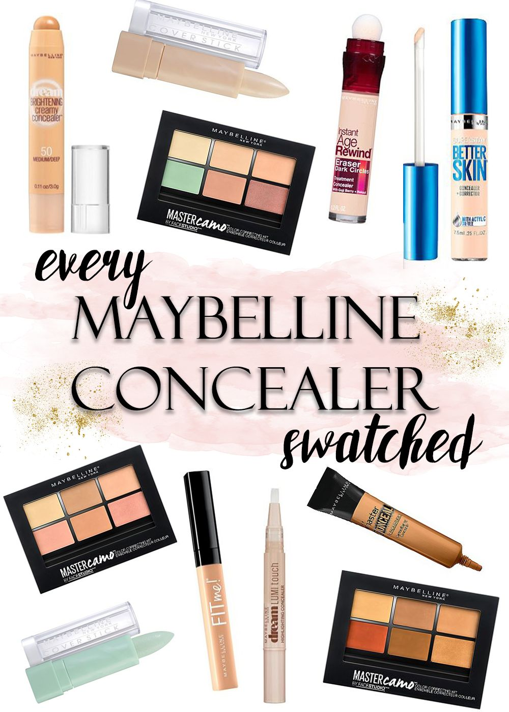 Maybelline Concealer Swatched Face Maybelline