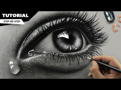 How to draw, shade realistic eyes, nose and lips with graphite pencils | Step by Step | Drawing Aylin Blog #realisticeye