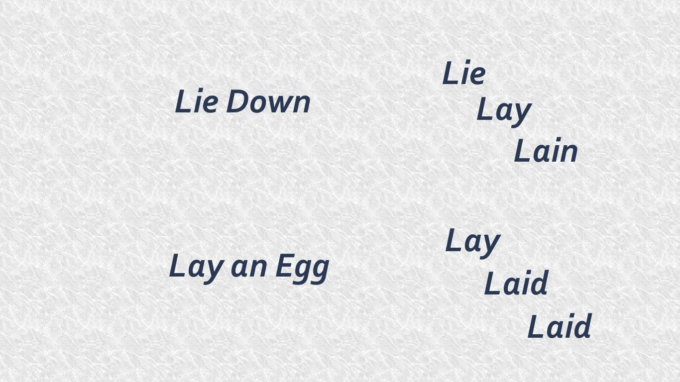Lay Vs Lie With Images