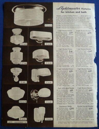 Lamps Shades Light Fixtures Home Decor Vintage 1940s Sears Original Ads 5pp 1940s Home Decor 1940s Decor Retro