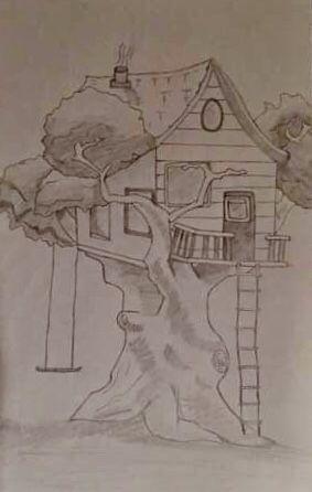 Dessin dune maison dans un arbre häuser