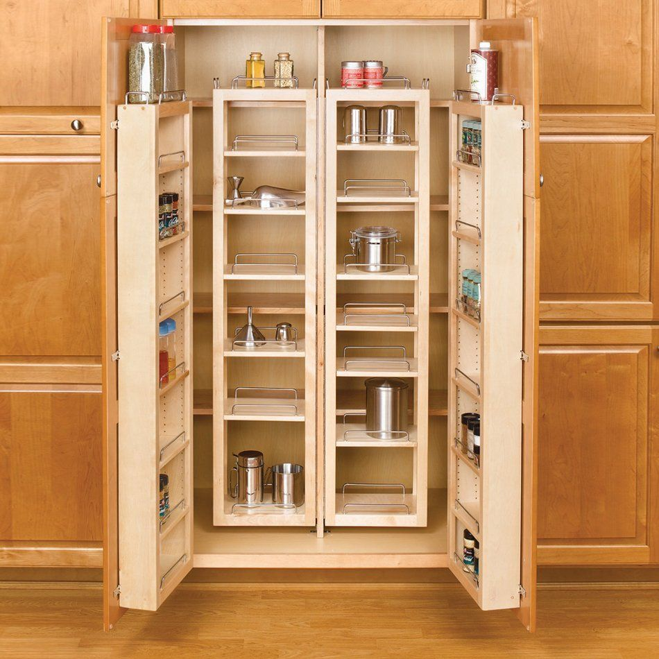 Rev A Shelf 4wp18 57 Kit 4wp Series Complete Swing Out Tall Pantry Kit Kitchen Pantry Design Pantry Cabinet Pantry Design