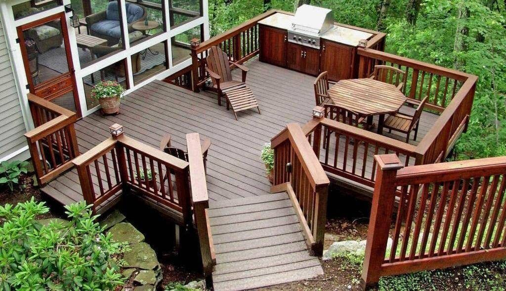 find this pin and more on deck and patio design ideas - Wood Deck Design Ideas