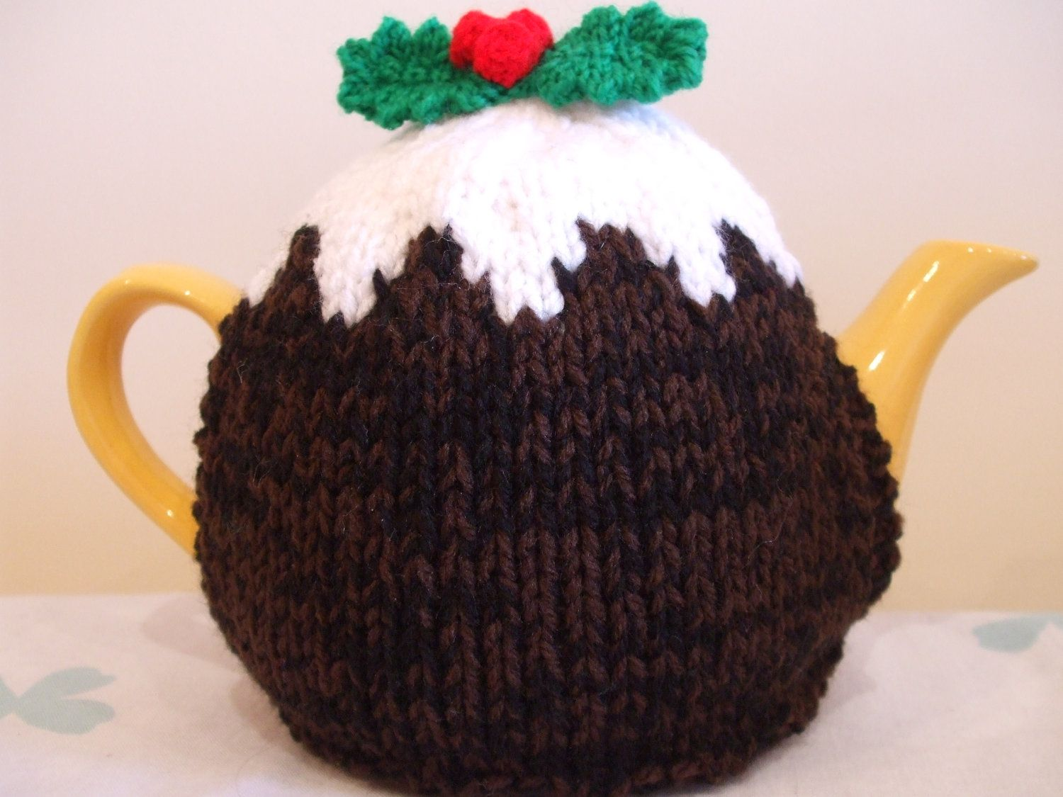 Hand Knitted Medium Christmas Pudding Tea Cosy Cosies ...