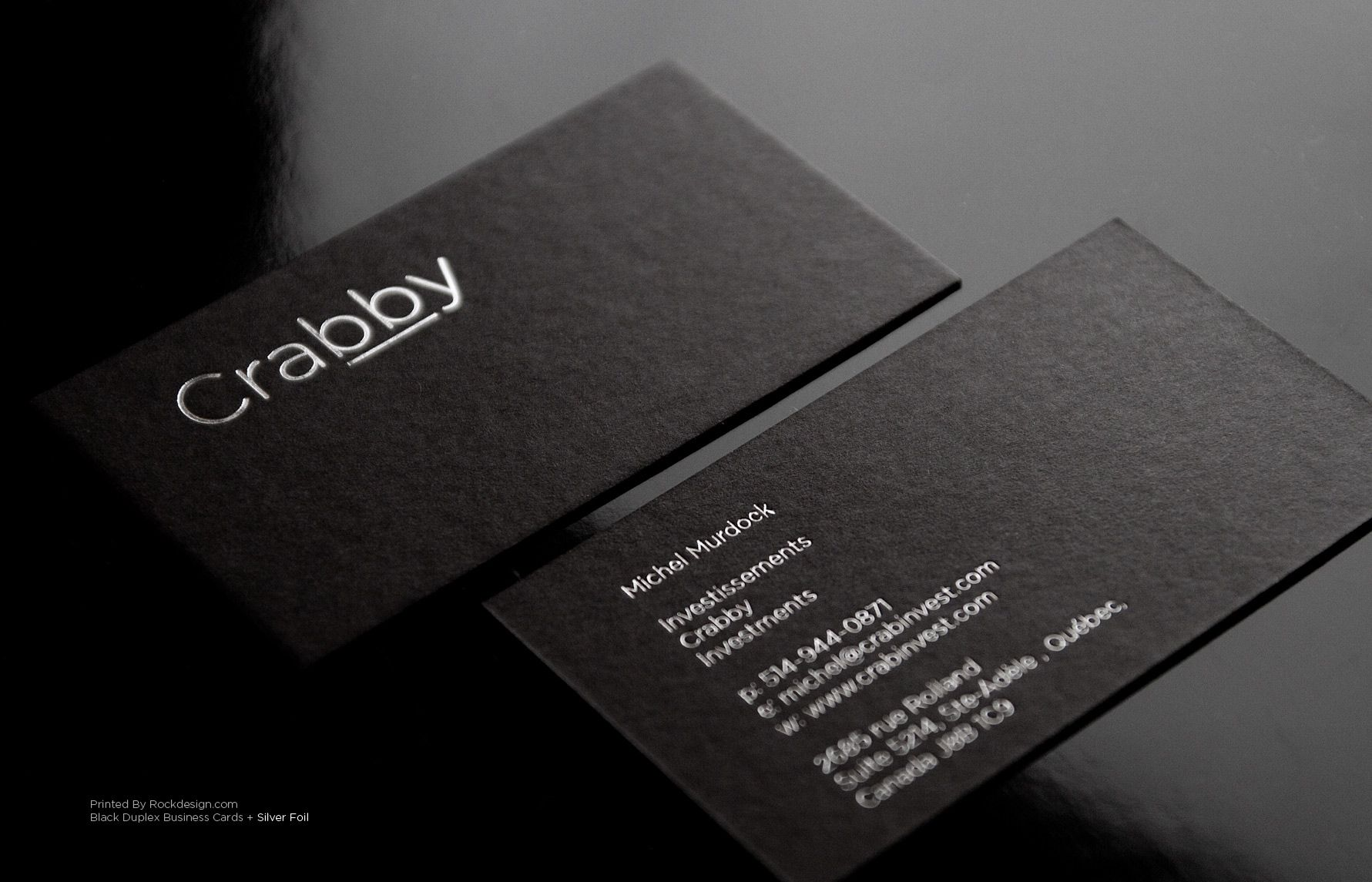 Rockdesign High End Business Cards Black