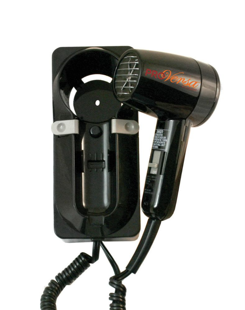 Jerdon Jwm6cb 1600 Watt Wall Mount Hair Dryer Plug In