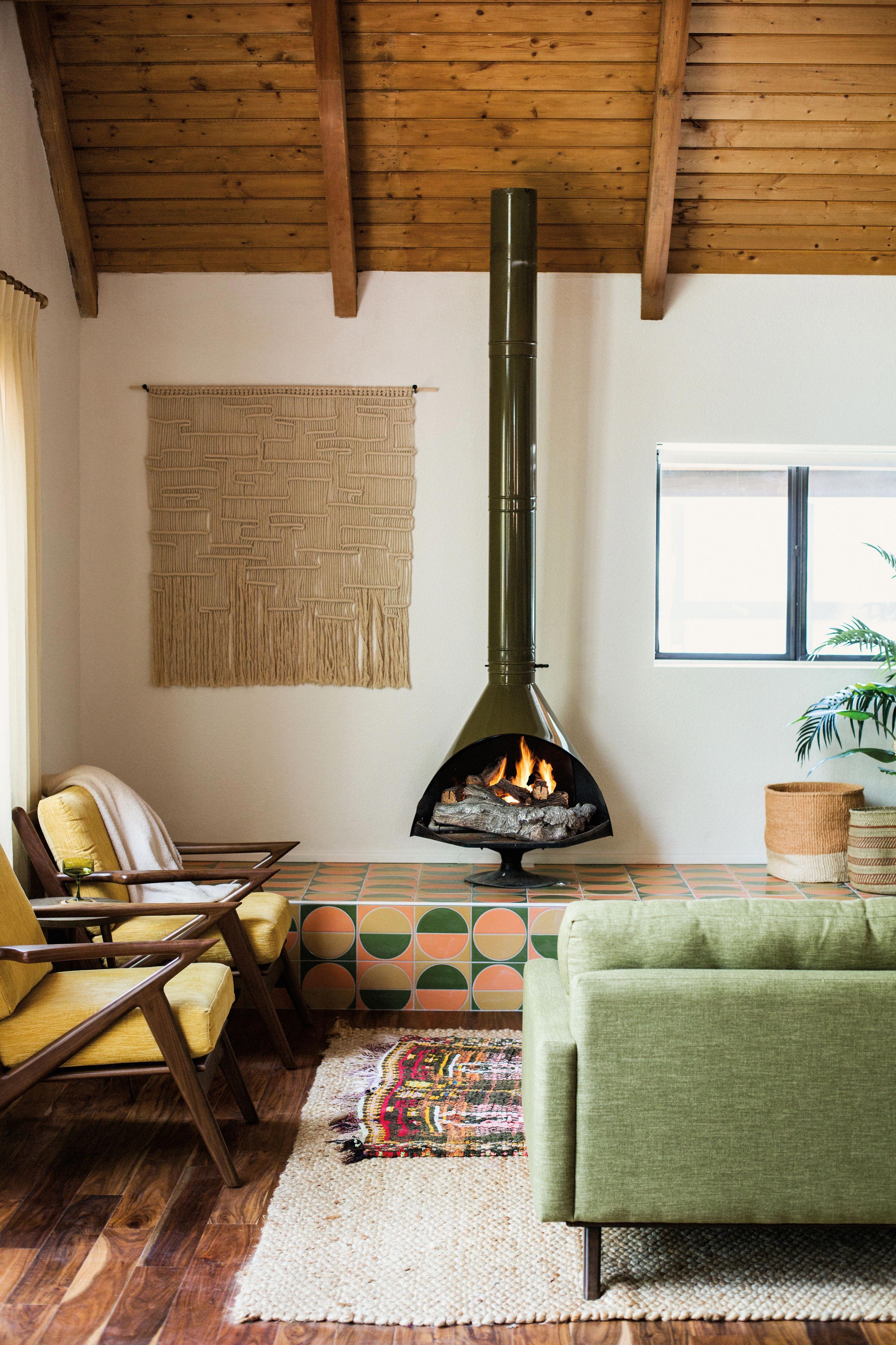 cozy meets retro living room vibes #livingroomfurniture ...