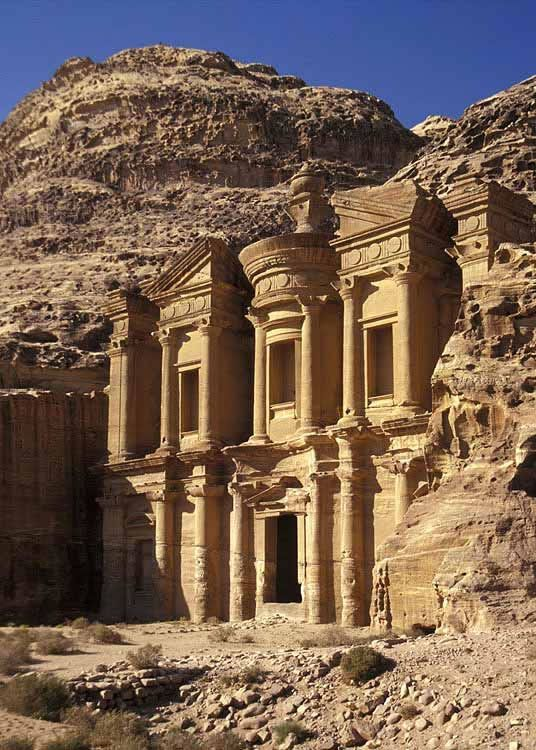 The monastery in ancient petra jordan this structure of