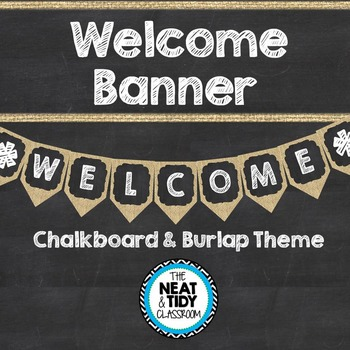This burlap and chalkboard themed welcome banner will look adorable hanging over the door of your  sc 1 st  Pinterest & Welcome Banner Burlap and Chalkboard | Chalkboards Burlap and Banners