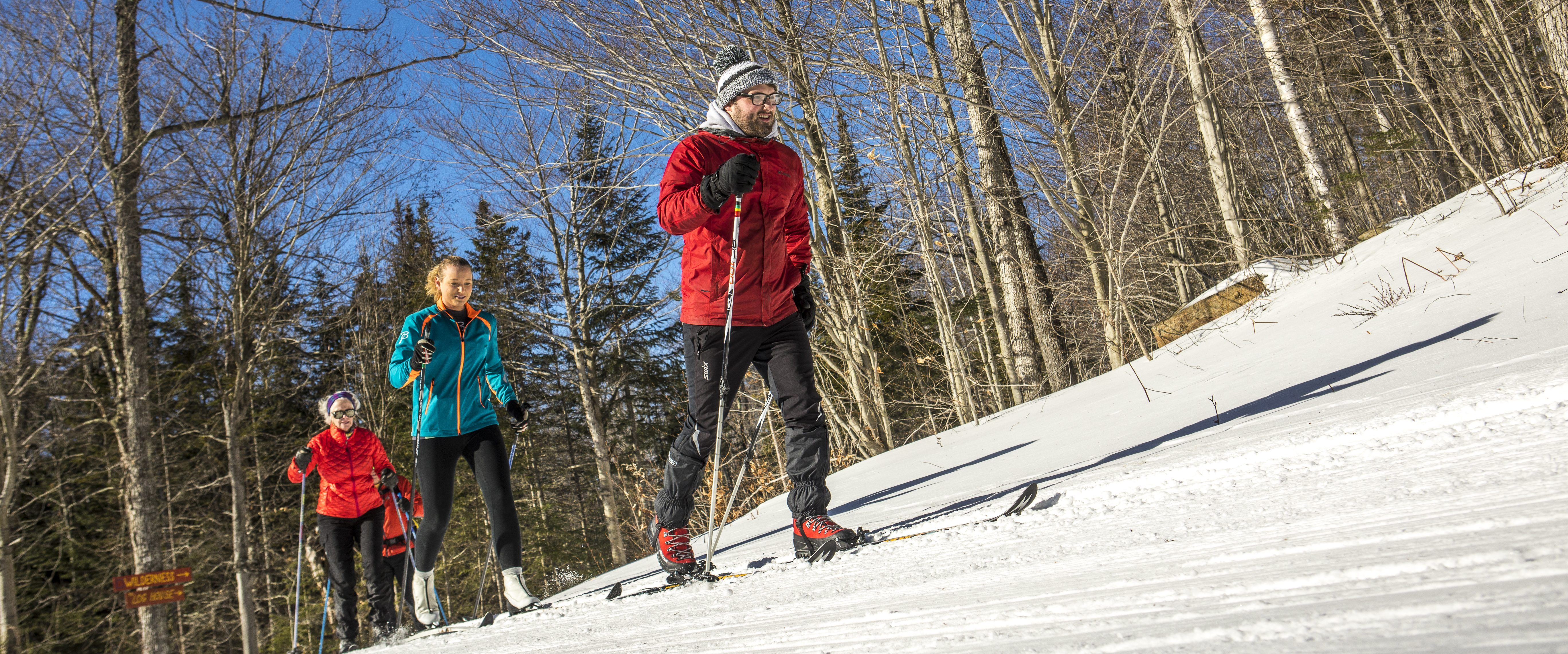 Winter Arrives Early To The Adirondacks It Is Not Unusual To Be Cross Country Skiing At Garnet Hill By Than Cross Country Skiing Winter Sports Mountain Resort
