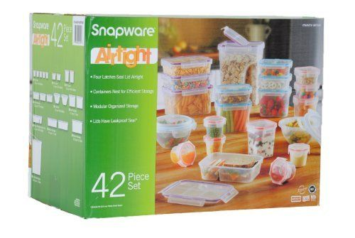 BPA Free Snapware 42 Piece Airtight Plastic Storage Container Set, NEWEST MODEL by Snapware by Snapware. I highly Recommend these.