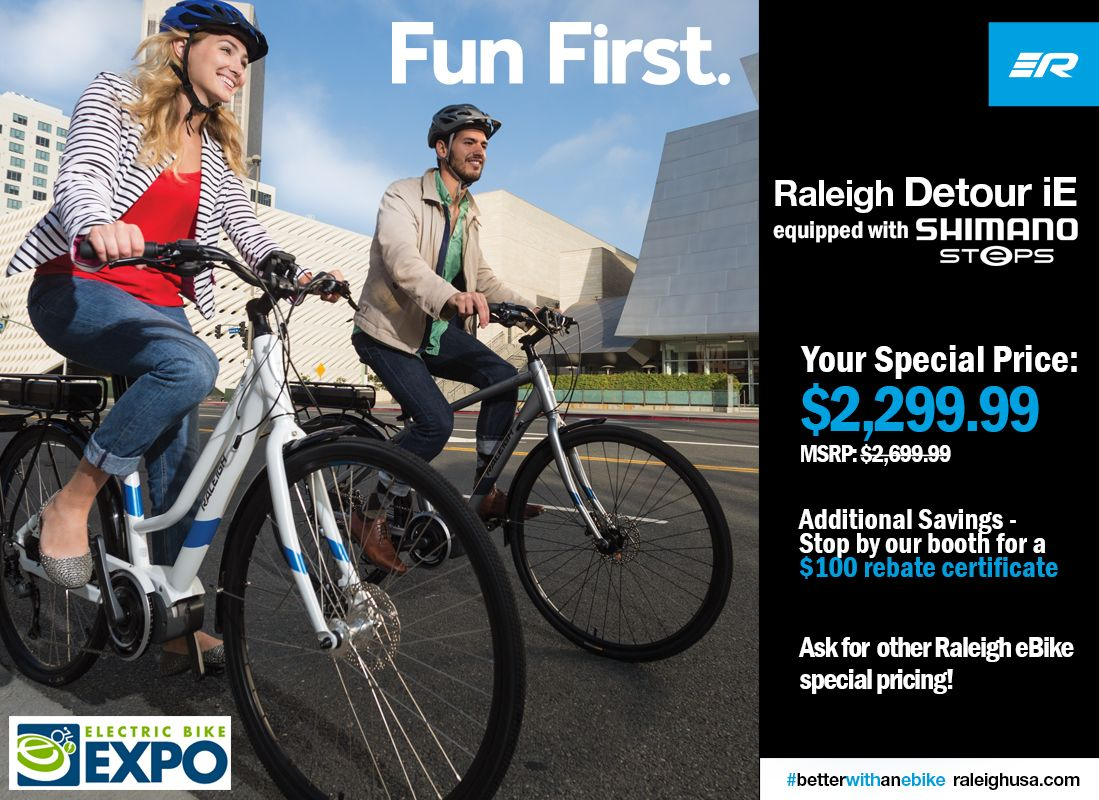Deals On Raleigh Bicycles Ebikes At The Denver Electric Bike Expo This Fri Sat Sun June 17 19 Test Ride The Lates Electric Bike Raleigh Bicycle Bike