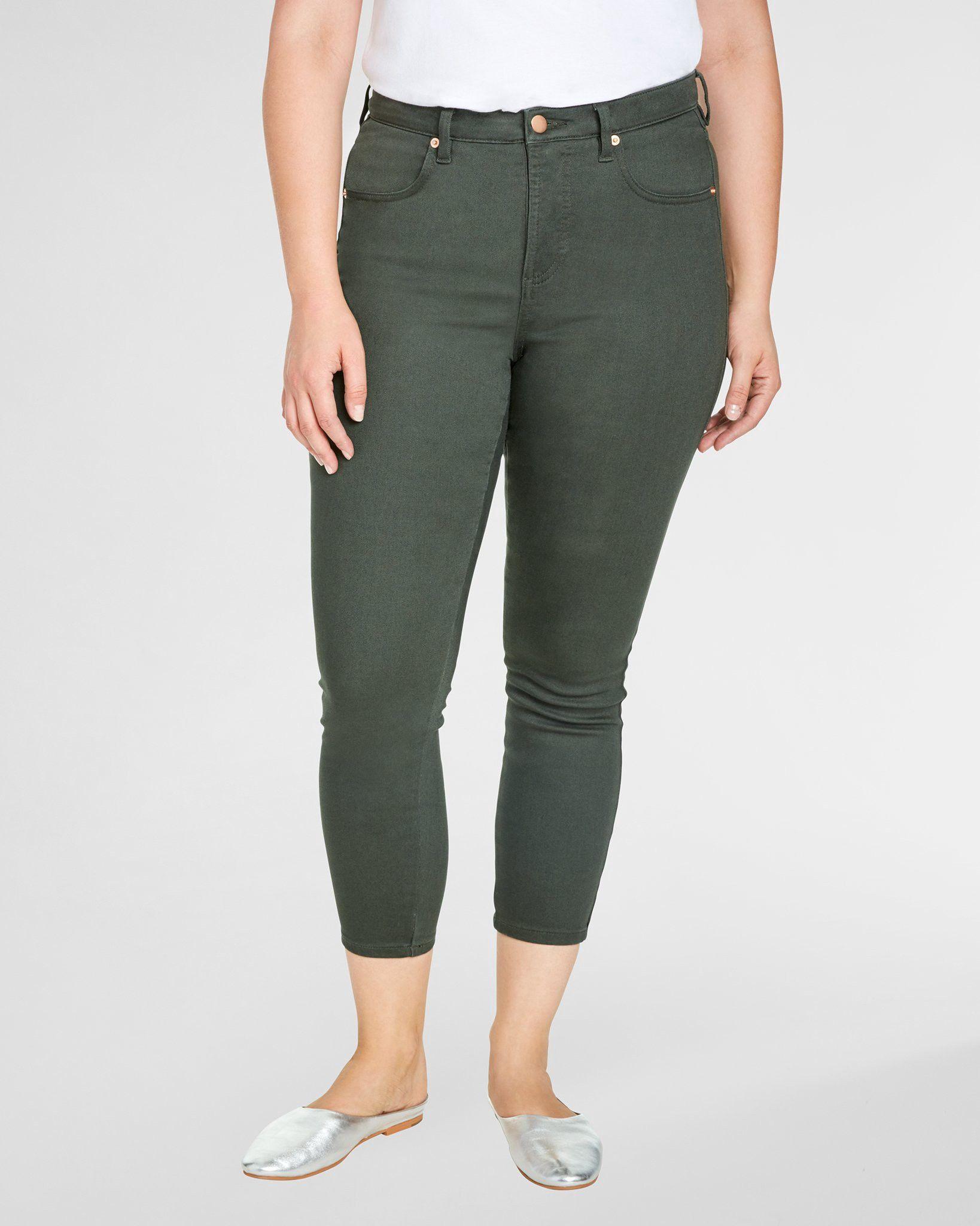 7fbc7fa3f464e Universal Standard Slim Cut Seine Jeans 27 Inch - Solid Camo 14 ...