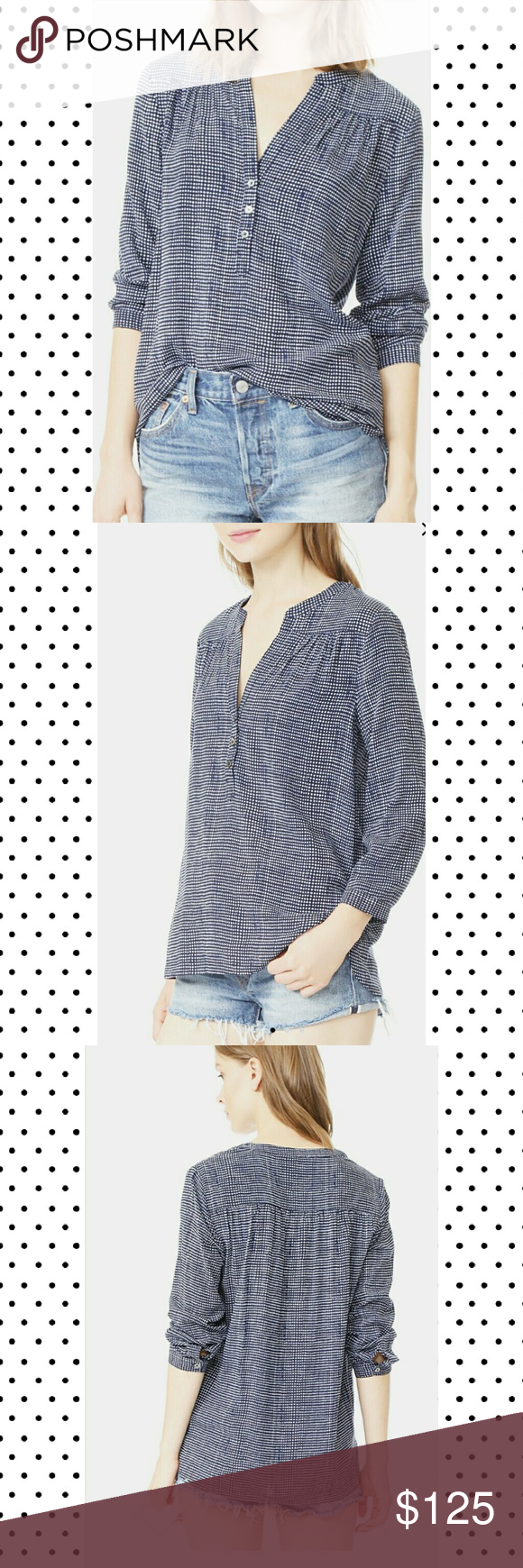 16196eab4947b Soft joie blue popover patterned blouse NWT. Top named rosalynn. Great for  weekend or the office. Soft Joie Tops Blouses