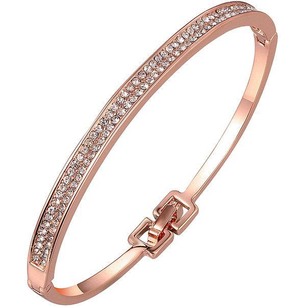 Golden NYC Rose Gold Pav Bracelet With Swarovski Crystals 23