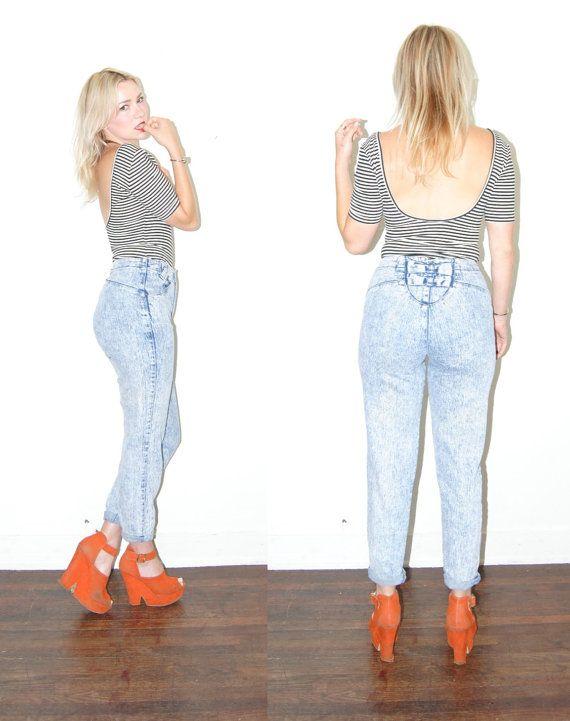 High Waist Blue Jeans / acid wash / Pure Jeans / by DutchessofYork