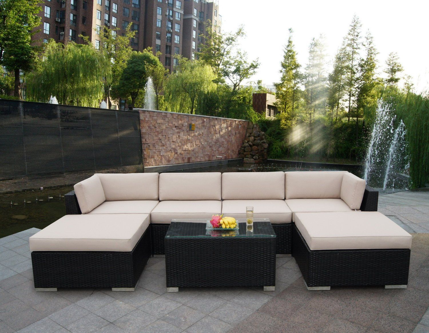 Outdoor wicker patio furniture plays a prominent role in decorating the  place. At present,