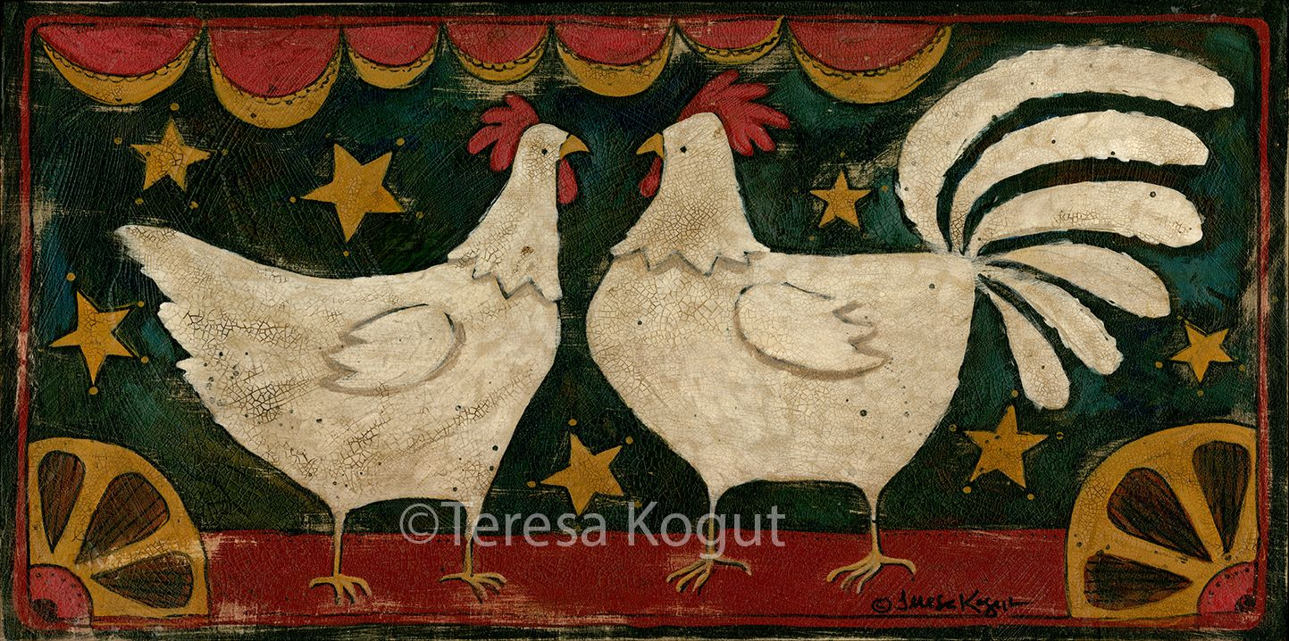 """Hey Chickie"" by Teresa Kogut  #chicken #farm #farmlife #rooster"