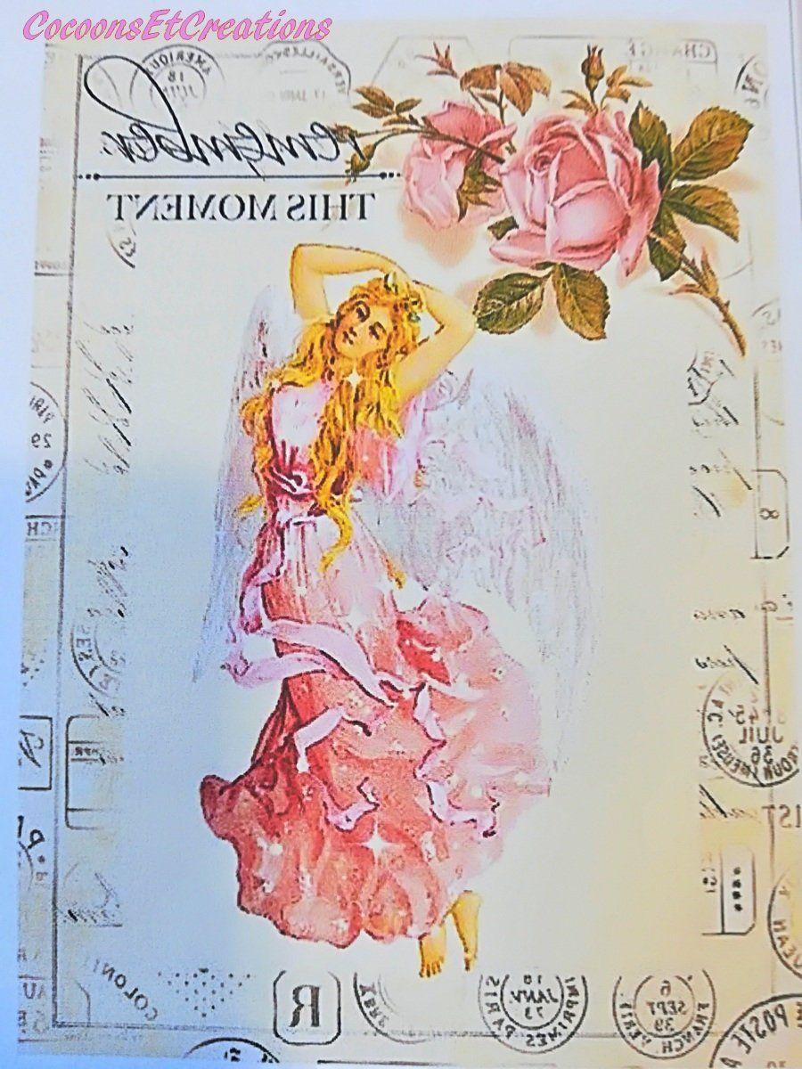 AppliquéTransfert 0104 Dame à jupe rose vaporeuse; style shabby