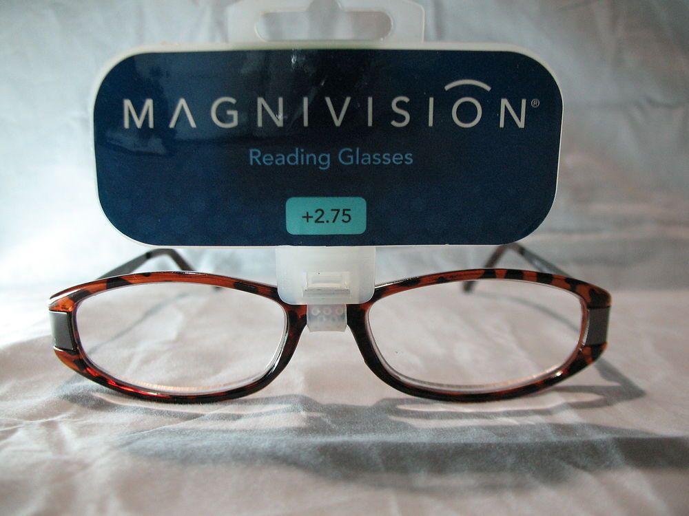 8298ec7412a Magnivision Rachel Brown Tortoise Womens Reading Glasses +1.25 2.25 2.75   Magnivision
