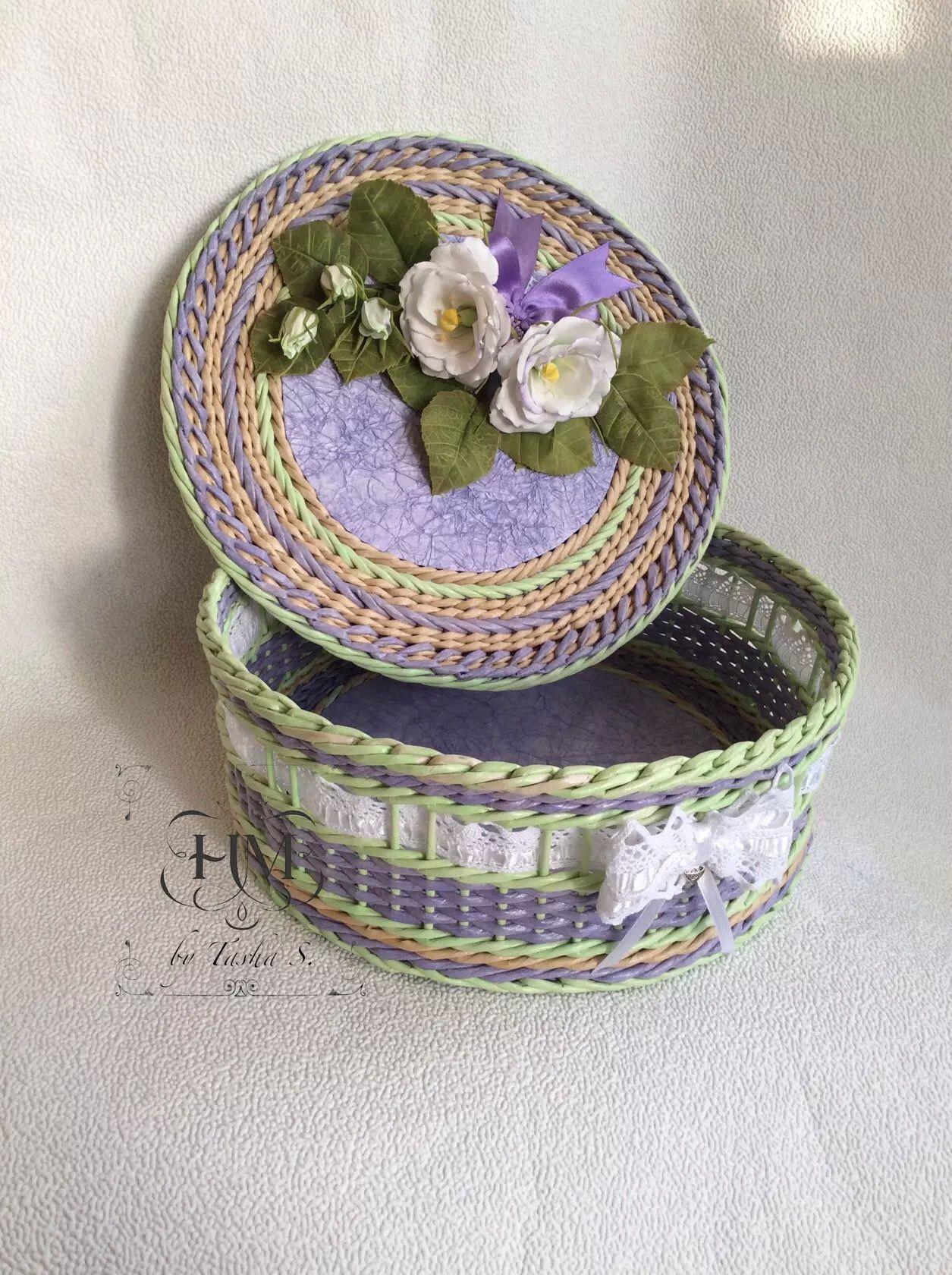 шкатулка бумажное плетение цветы из фоамирана