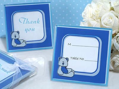 Buy our Adorable Teddy Bear Blue or Pink Glass Photo Frame Party ...