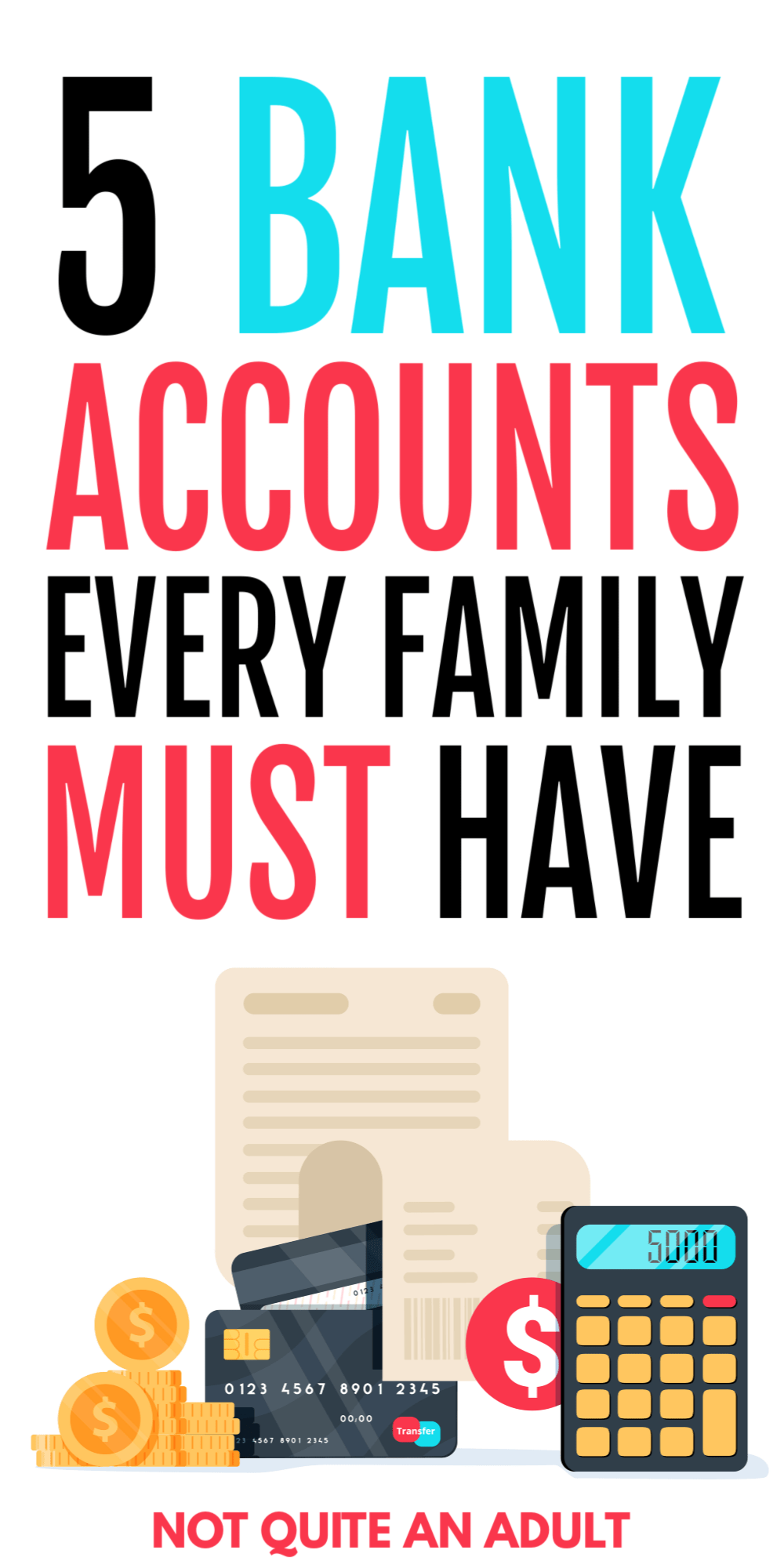 to a ton of people having 5+ bank accounts may sound a little bit crazy but sometimes it's the best answer to financial woes! learn the 5 must have bank accounts that your family needs to change your finances #finance #money #bank