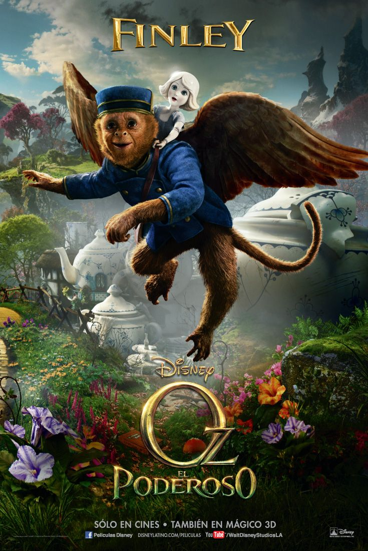 Oz El Poderoso Finley Peliculas De Disney Carteles De Peliculas Peliculas Fantasia