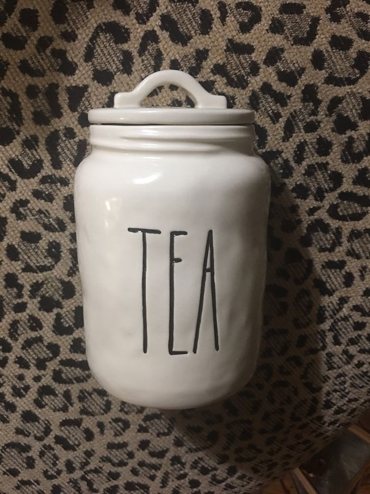 Rae Dunn By Magenta Tea Canister From The Boutique Collection