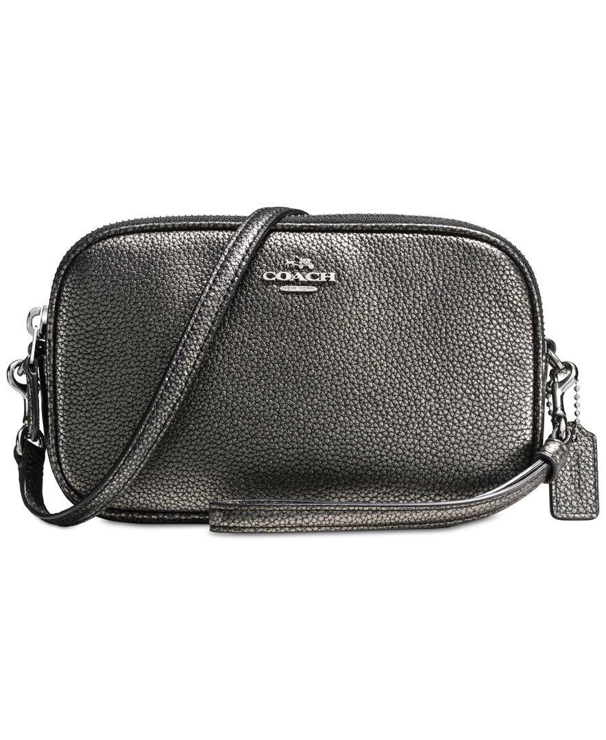 Coach Crossbody Clutch In Pebble Leather Handbags Accessories Macy S