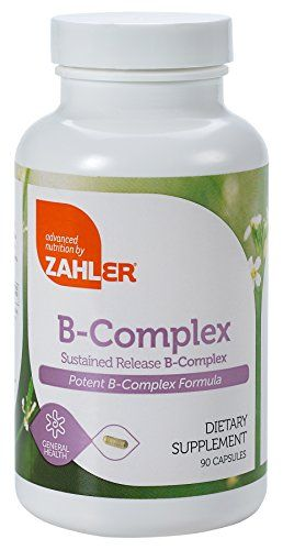Zahler B Complex, All Natural Supplement Supporting Energy Production,  1 Pure and Potent B Complex Formula Containing all 8 Essential B Vitamins, Certified Kosher, 90 Capsules ** Learn more by visiting the image link.