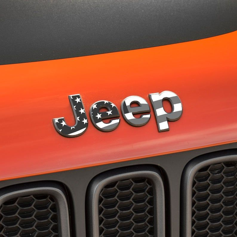 Jeep Renegade 2015 2020 Flag Grill Emblem Overlay Sticker