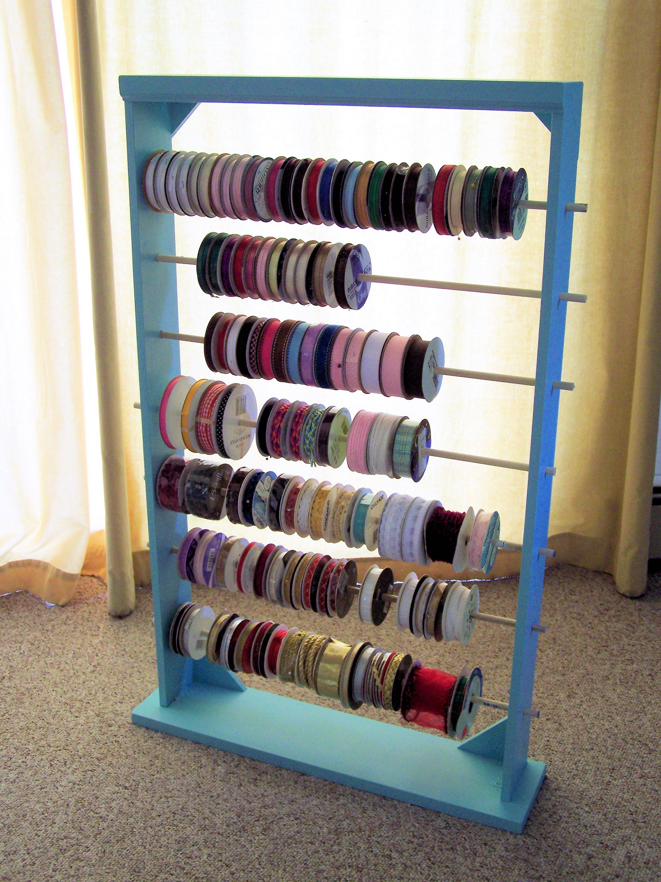 Ribbon Organizer By Don Stanger Sewing Room Organization Ribbon
