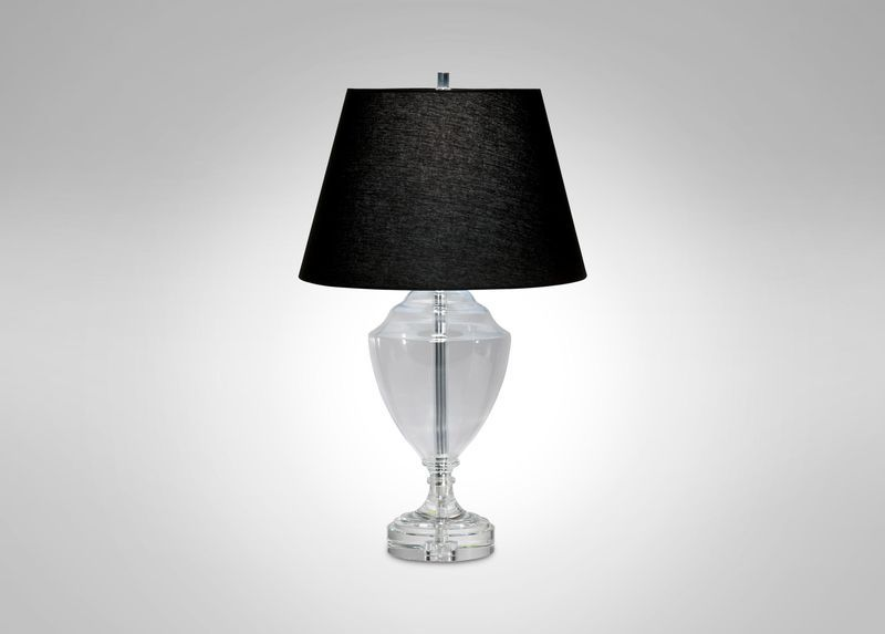 Glass trophy table lamp table lamps