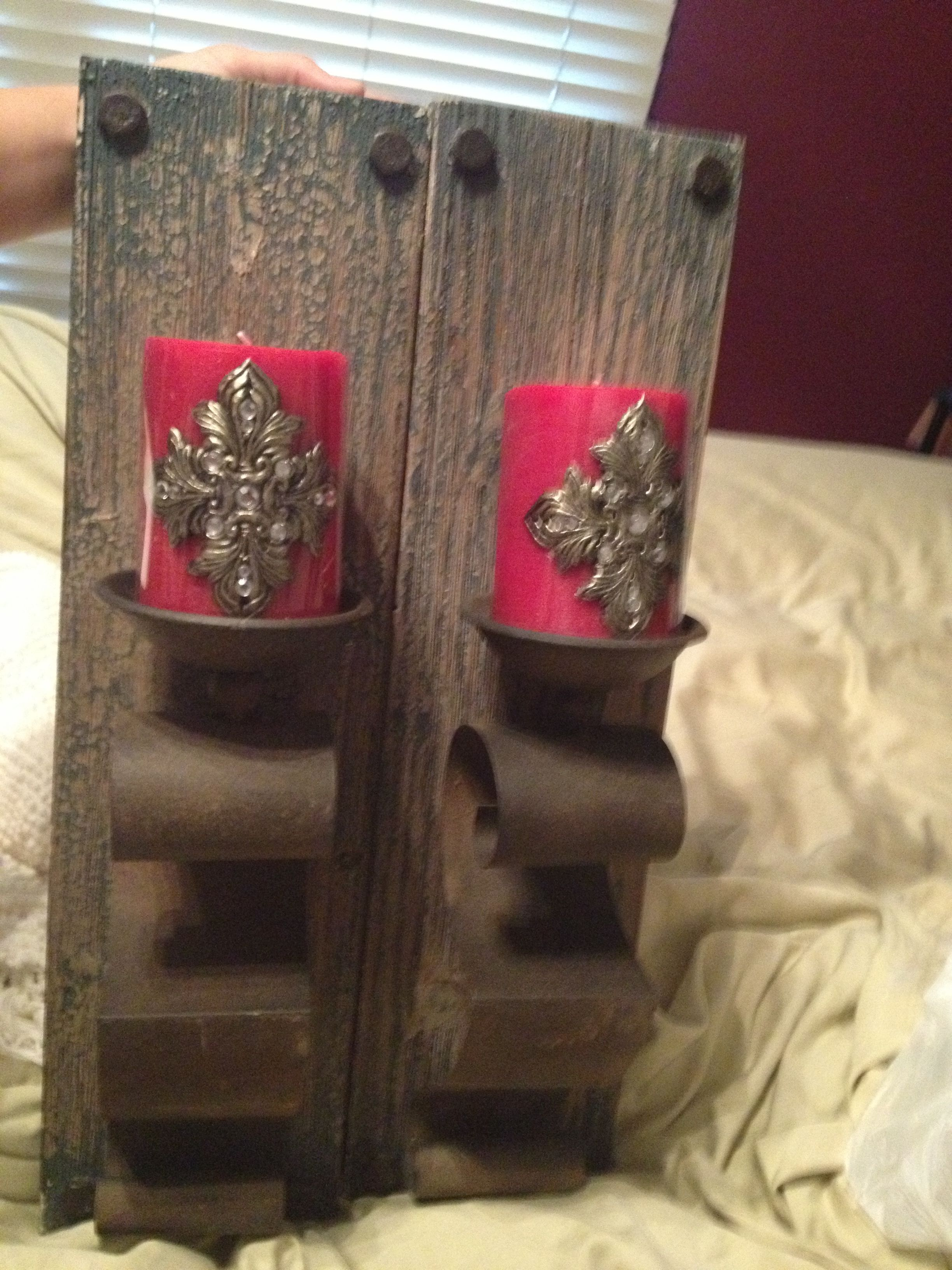 Sconces and candles from hobby lobby decor pinterest hobby