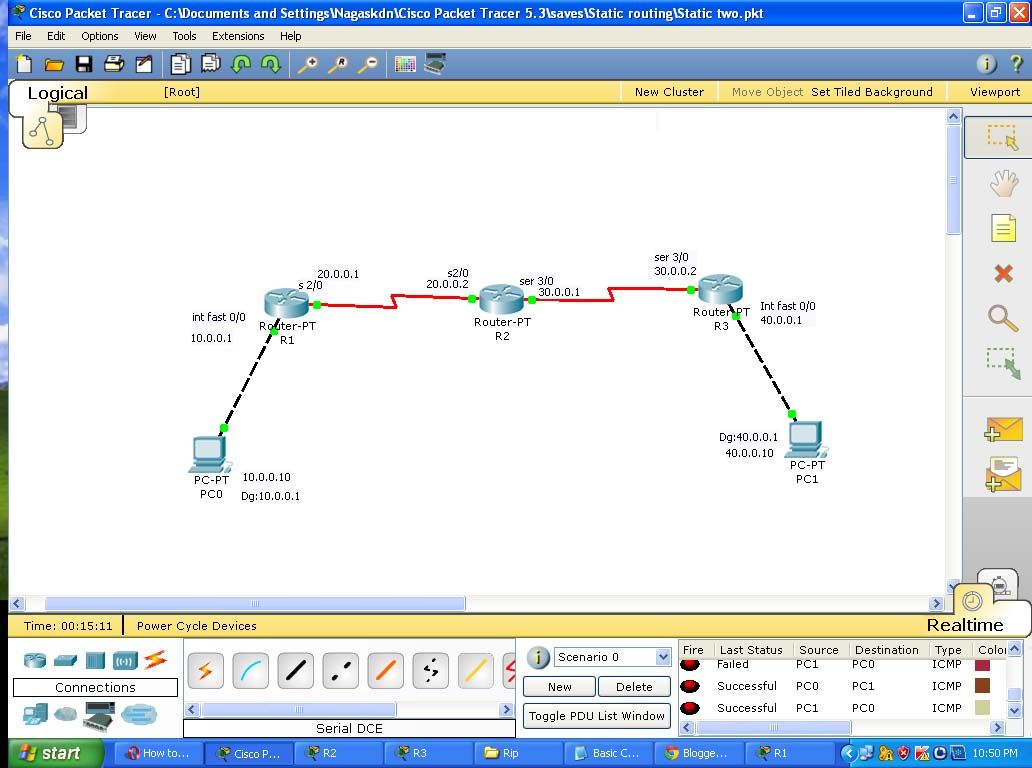 How to Configure Static Route using Packet Tracer | Router
