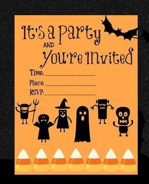 printable halloween party invitations