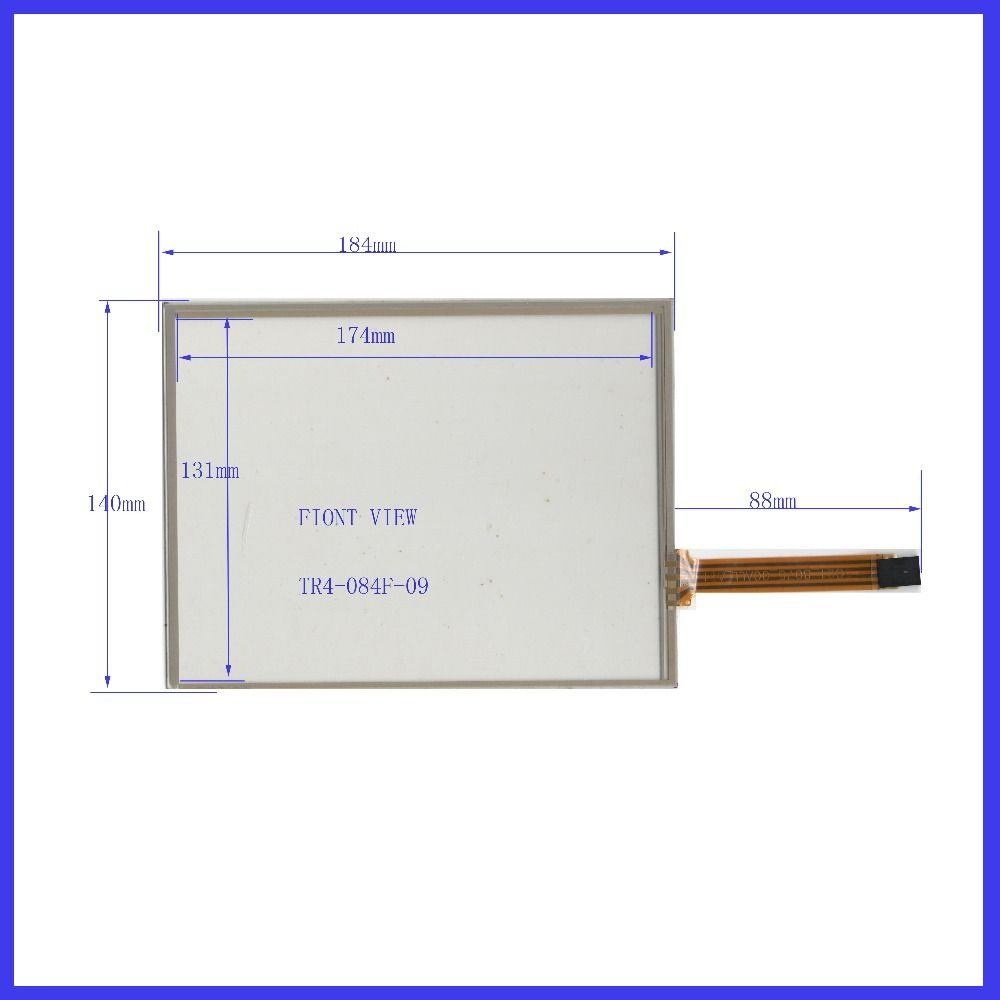 TR4-084F-09  POST 8.4  inch 4wire resistive Touch Screen 184*140  for  industry applications  MINDA IN TAIWAN