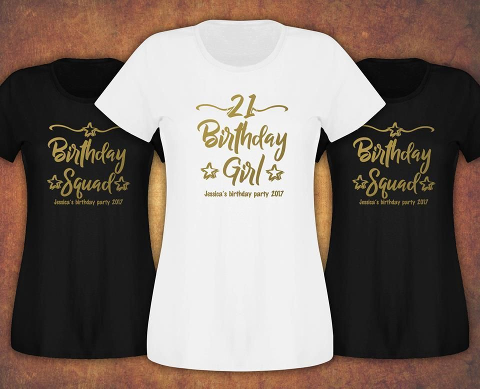 £6.99 GBP Personalised Birthday Girl Squad 18Th 21St