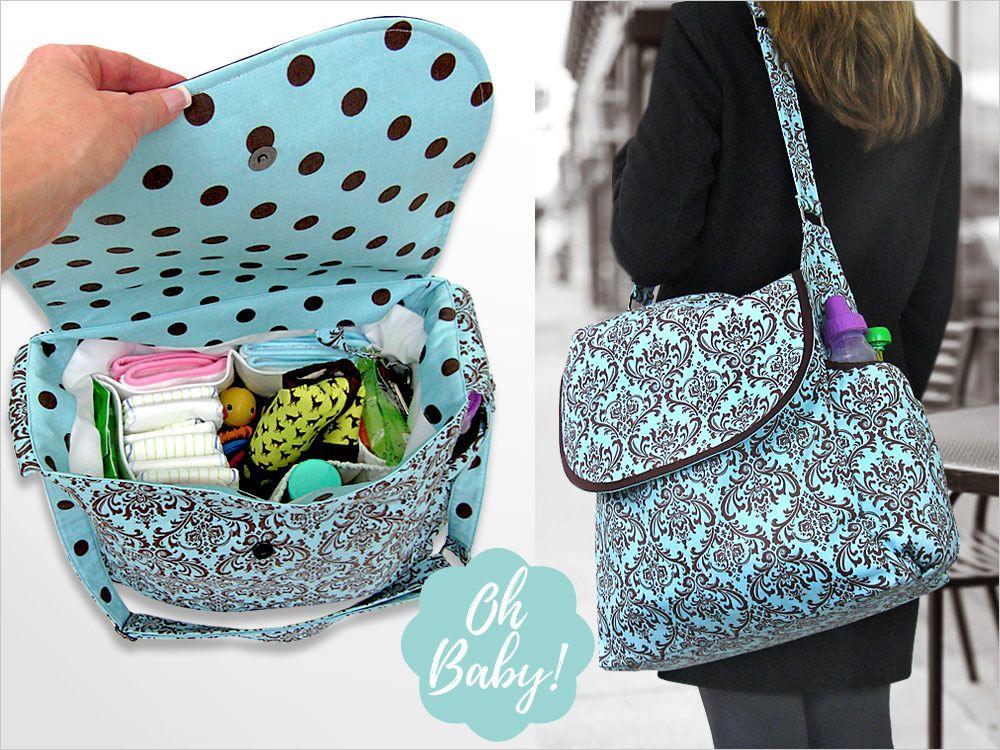 Big & Beautiful Diaper Bag Free Pattern and Tutorial and Video ...