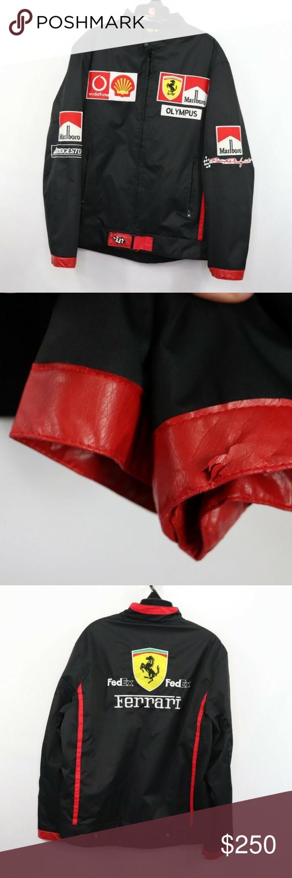 Vintage Ferrari Racing Marlboro Spell Out Jacket Jackets Clothes Design Ferrari