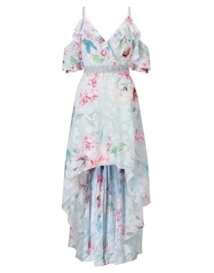 bc2ed79492 Lipsy Floral Print Burnout Maxi Dress