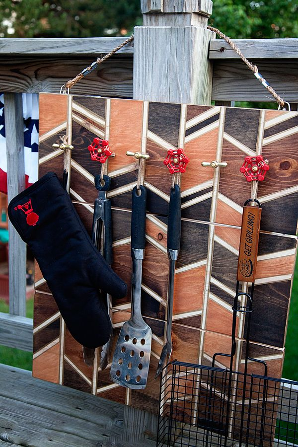 Whipperberry diy barbecue tool storage for father s day - Grill utensil storage ideas ...