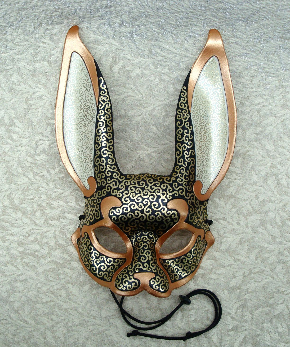 Venetian Rabbit Mask V5... handmade leather rabbit mask ...