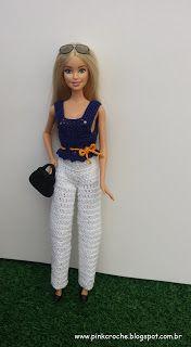 Wwwpinkcrocheblogspotcombr Youtubecomcpinkcroche Barbie