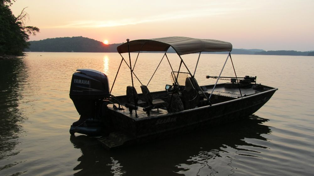 Sunset on the Water- Bimini Top Made by Carver Industries in USA. : custom boat canopy - memphite.com
