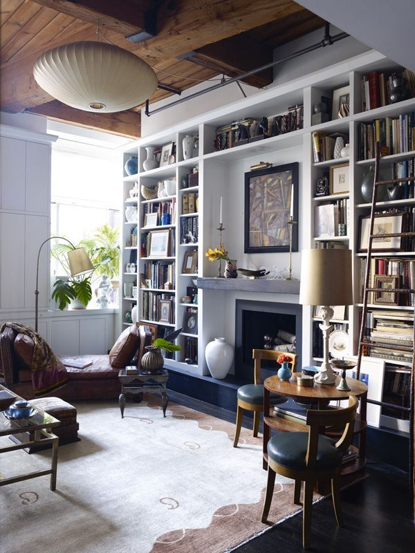 Home Library Loft: See More Of Alexandra Loew, Inc.'s Downtown Loft On
