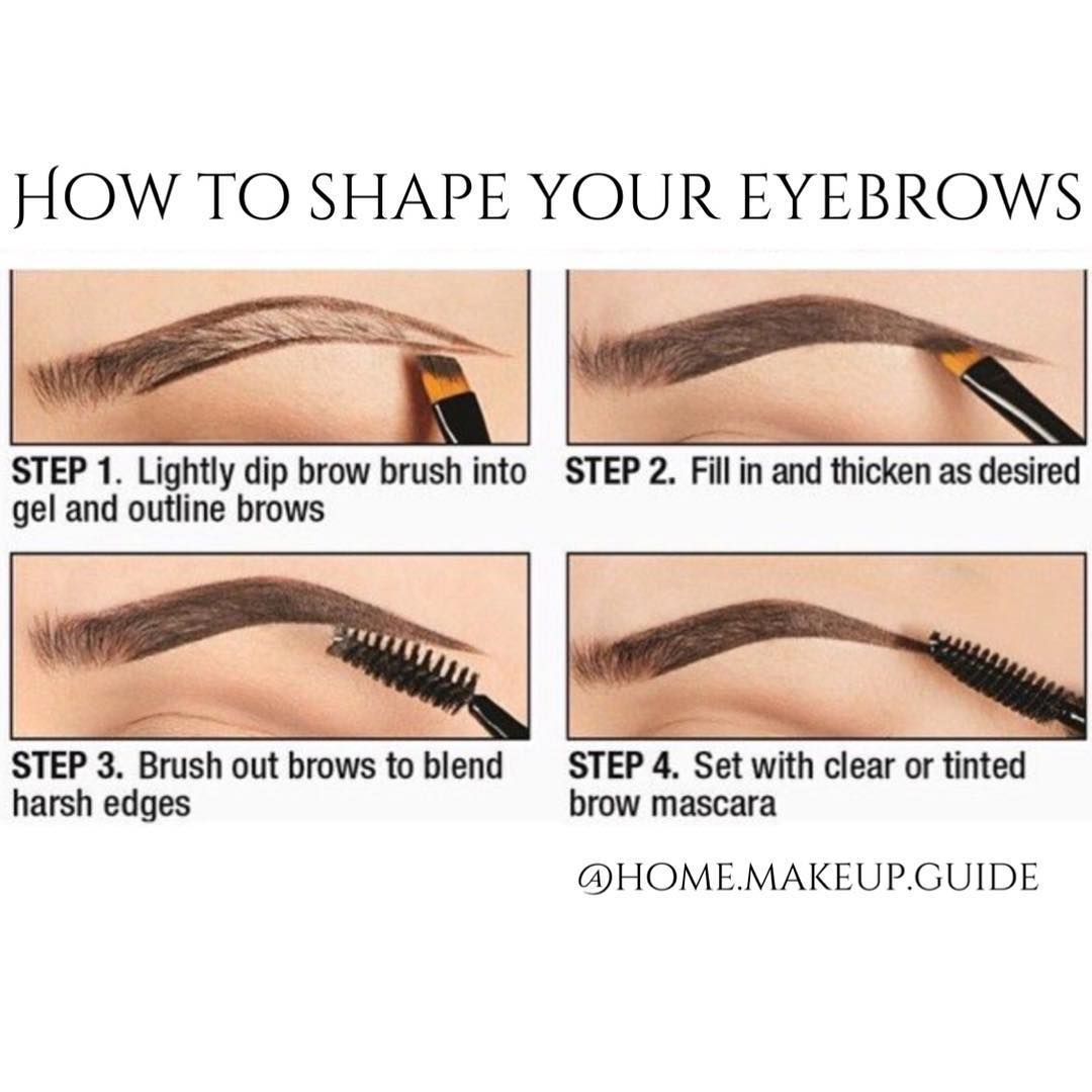 """""""How to shape your eyebrows @home.makeup.guide""""   Eyebrow ..."""