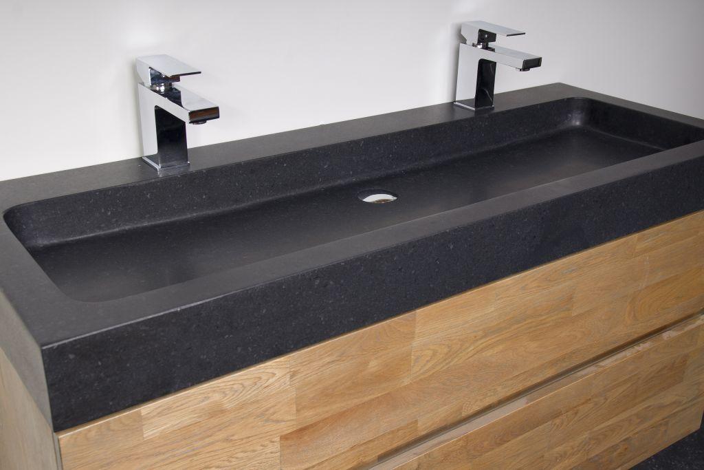 zwevend badkamermeubel woodline black spirit bathroom